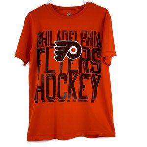 Philadelphia Flyers Hockey T Shirt Orange Medium
